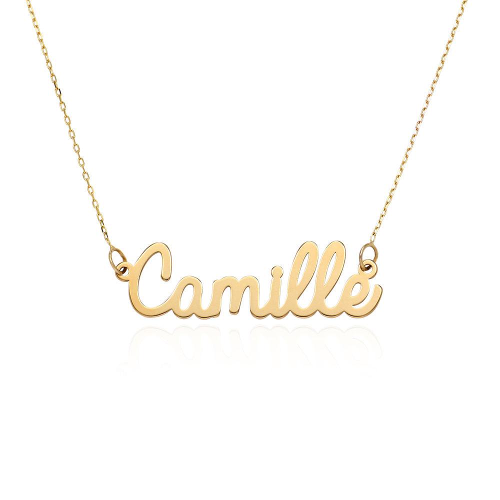 Collar con Nombre Personalizado en Cursiva en Oro 10K