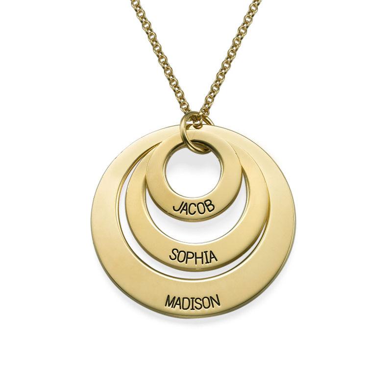 Joyería para Mamá-Collar de 3 discos chapado en oro de 18k