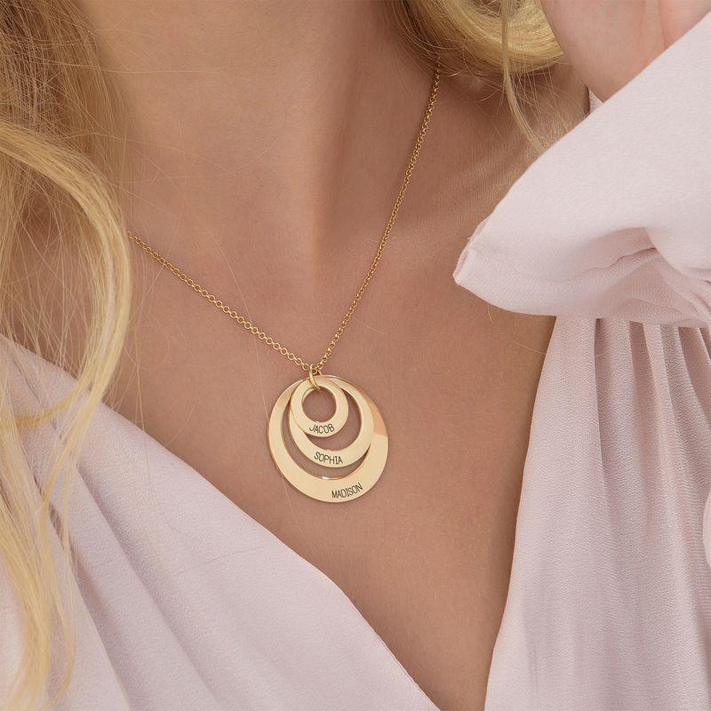 Joyería para Mamá-Collar de 3 discos chapado en oro de 18k - 5