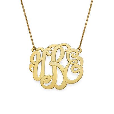 Collar de Monograma Premium en Chapado en oro