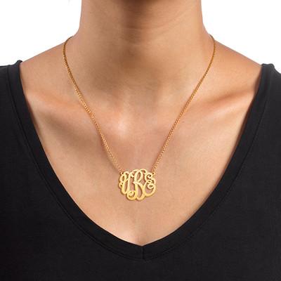 Collar de Monograma Premium en Chapado en oro - 1
