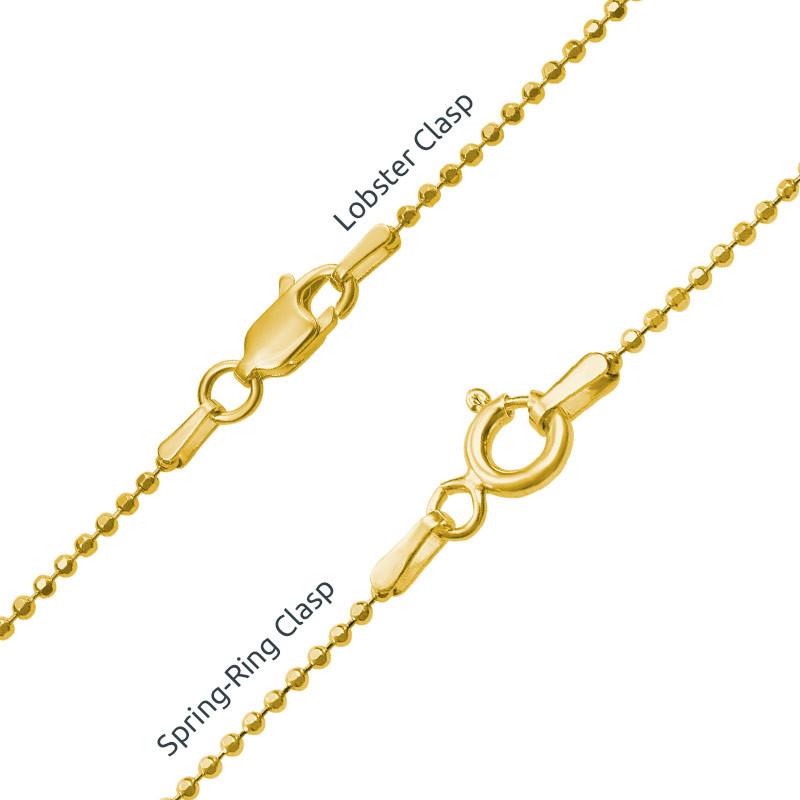Collar de Piecitos Personalizados chapados en oro - 4
