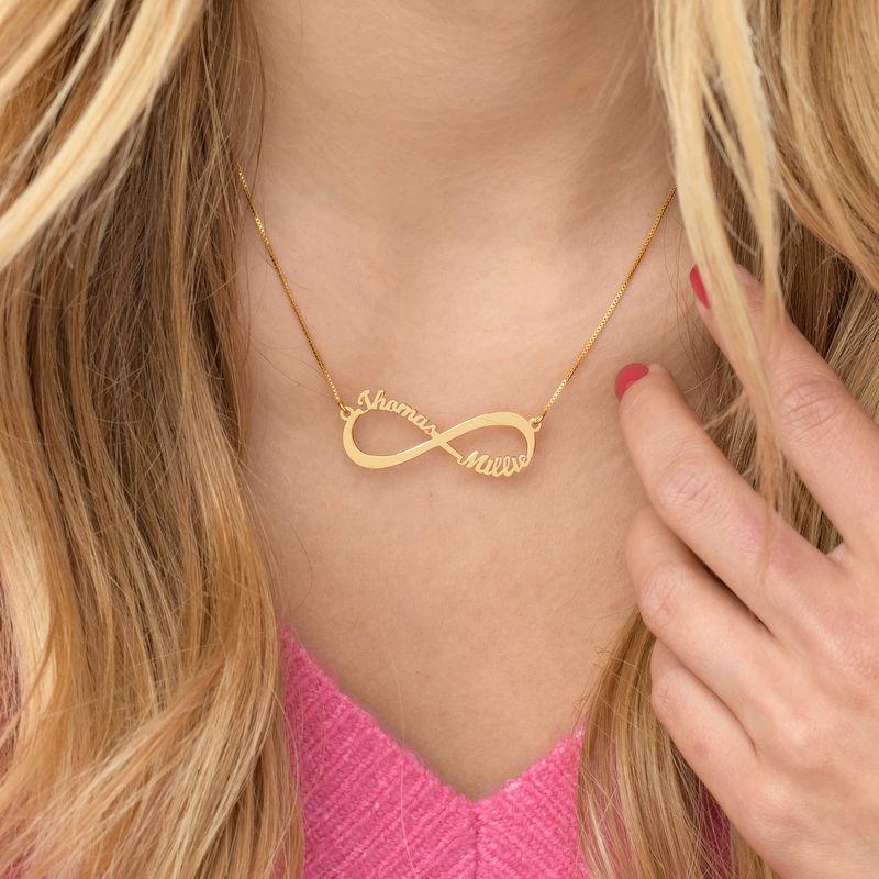 Collar Infinito con nombre en oro Vermeil - 4