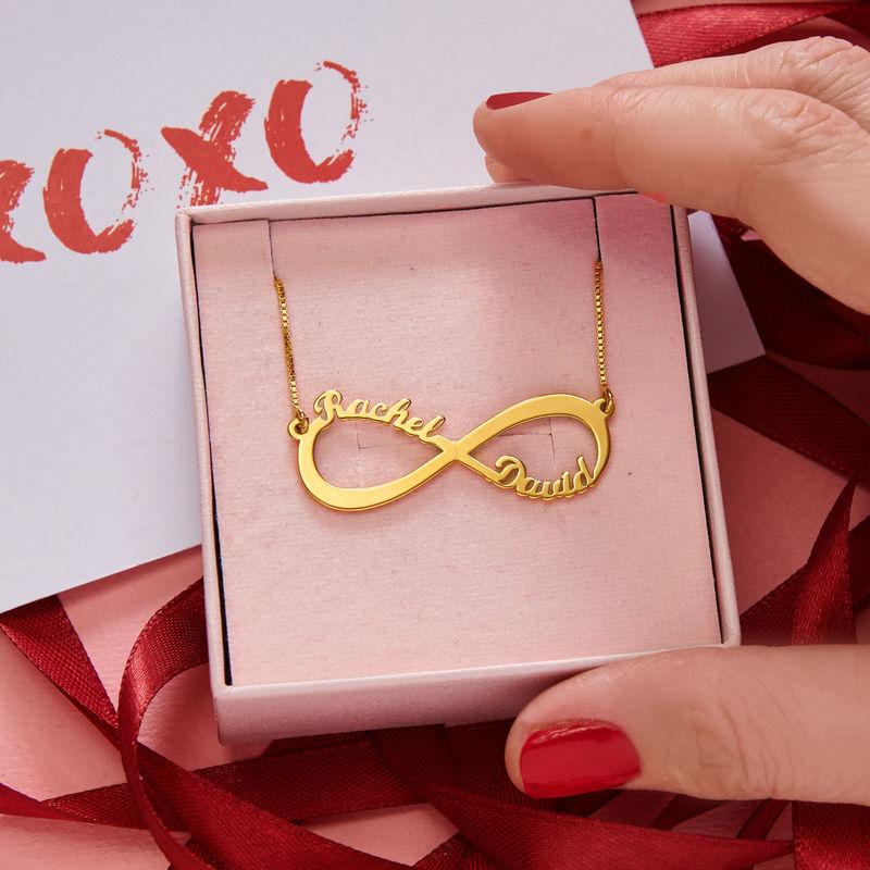 Collar Infinito con nombre en oro Vermeil - 5