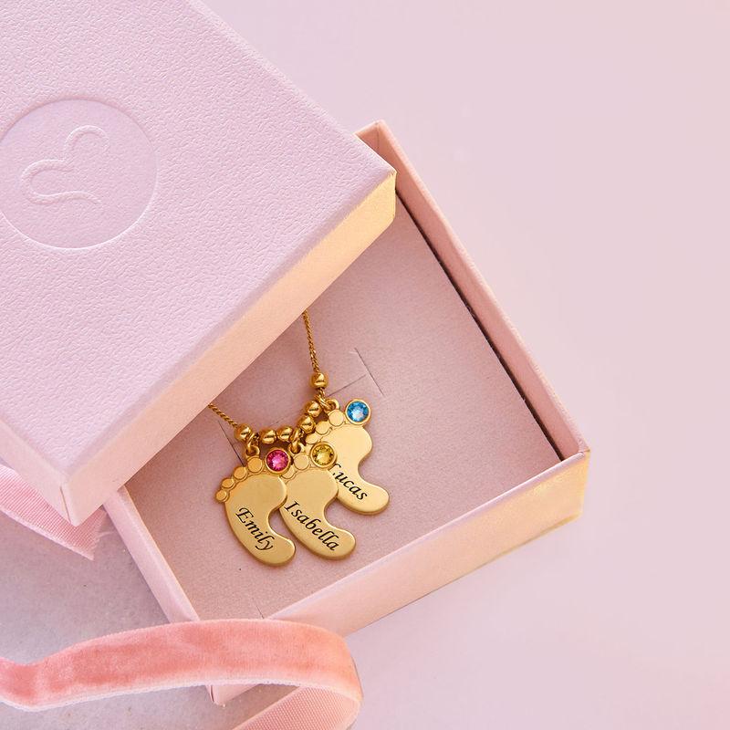 Collar de piecitos de  del bebé chapado en oro - 6