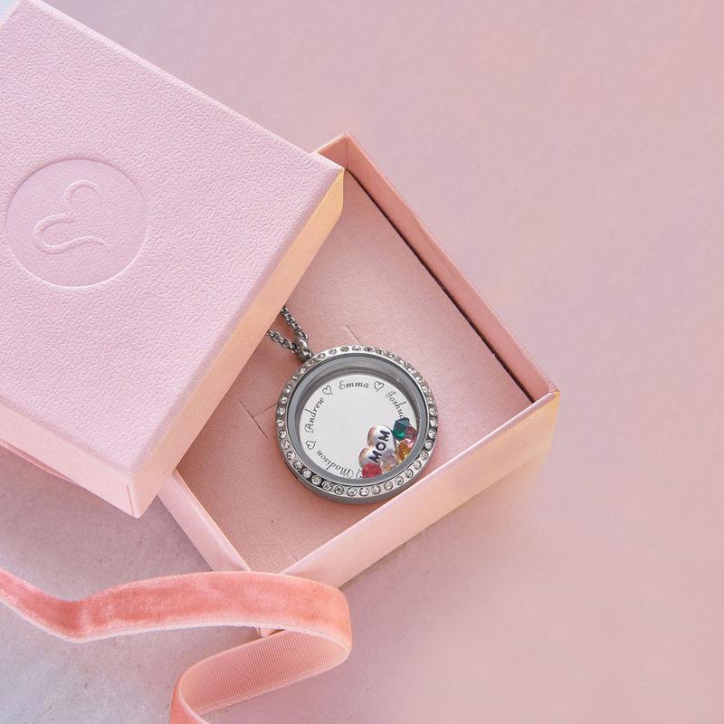 Medallón grabado con charms para Mamá o Abuela - 5