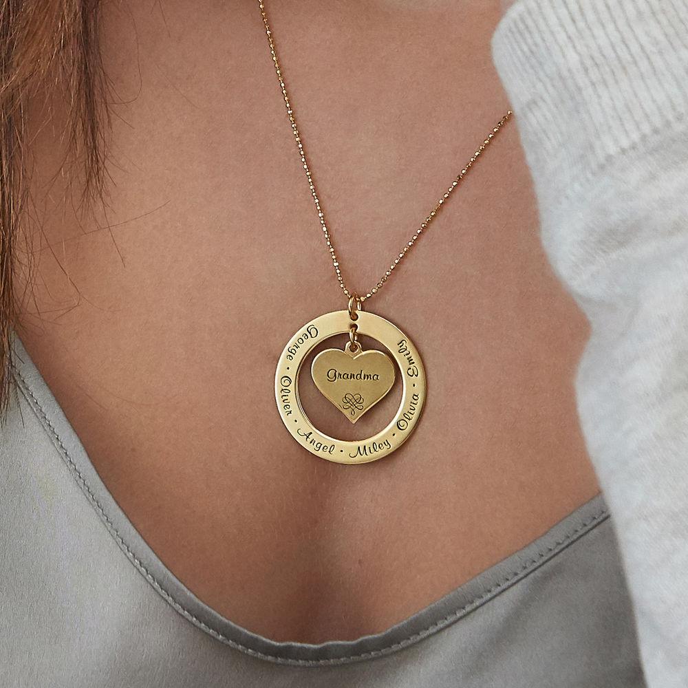 Colgante con nombre para la abuela o mamá en oro Vermeil - 6