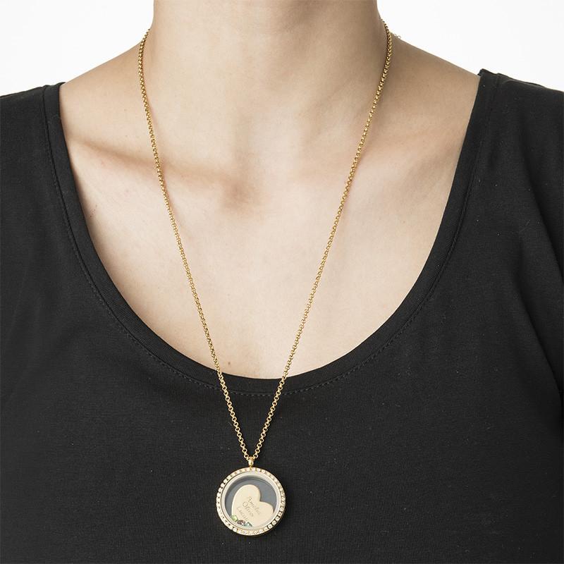 Medallón Flotante Amor de Madre chapado en oro - 2