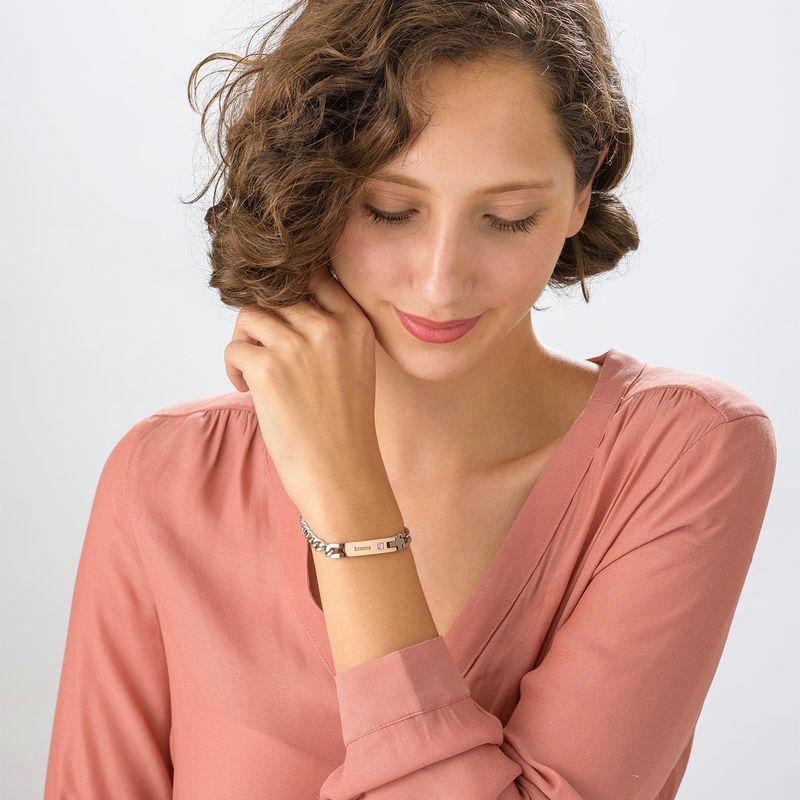 Pulsera de Identificación para Mujer en Acero Inoxidable - 1