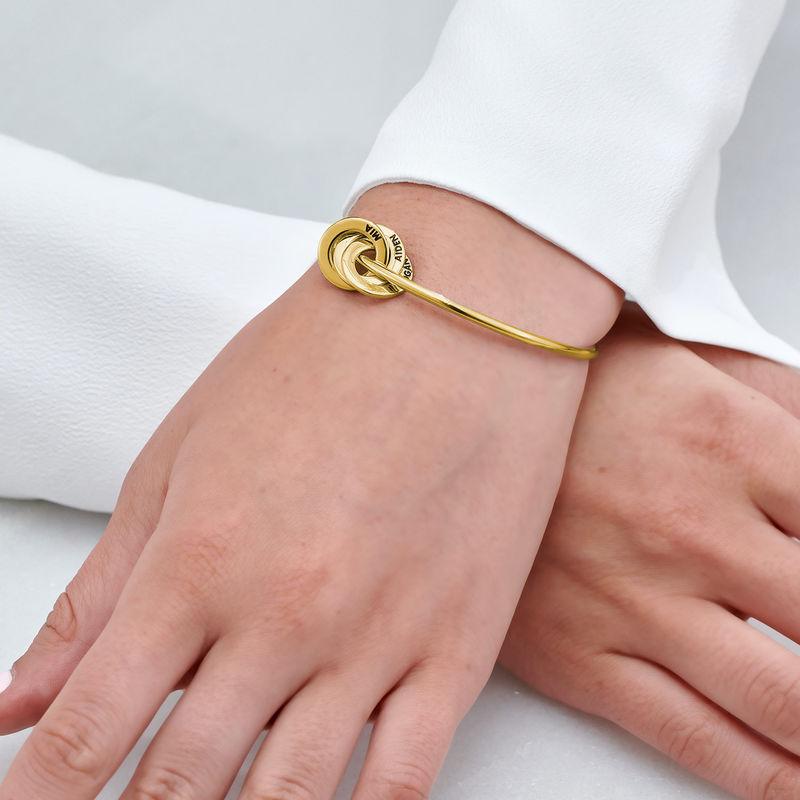 Pulsera rígida con anillo ruso en oro Vermeil - 3