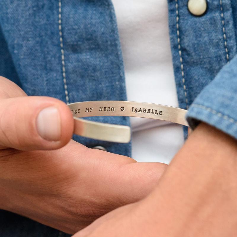 Brazalete Personalizado para Hombre en Plata - 4