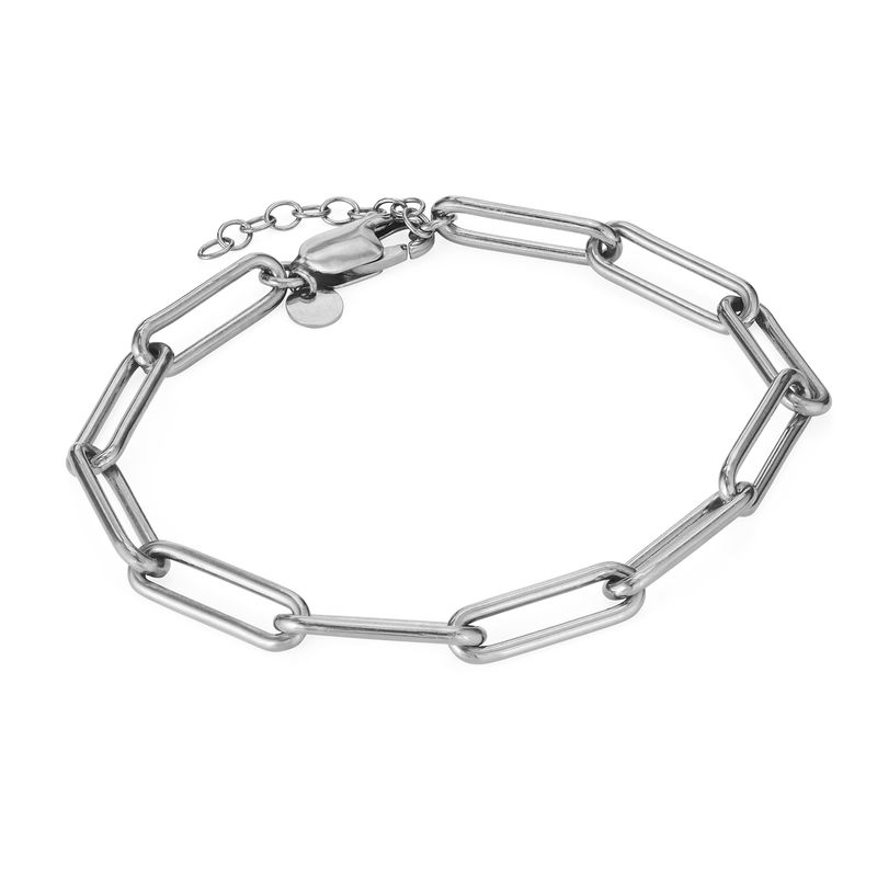Pulsera de eslabones de cadena en plata de ley