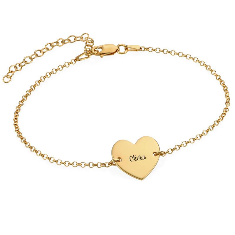 Tobillera de Corazón Chapada en Oro