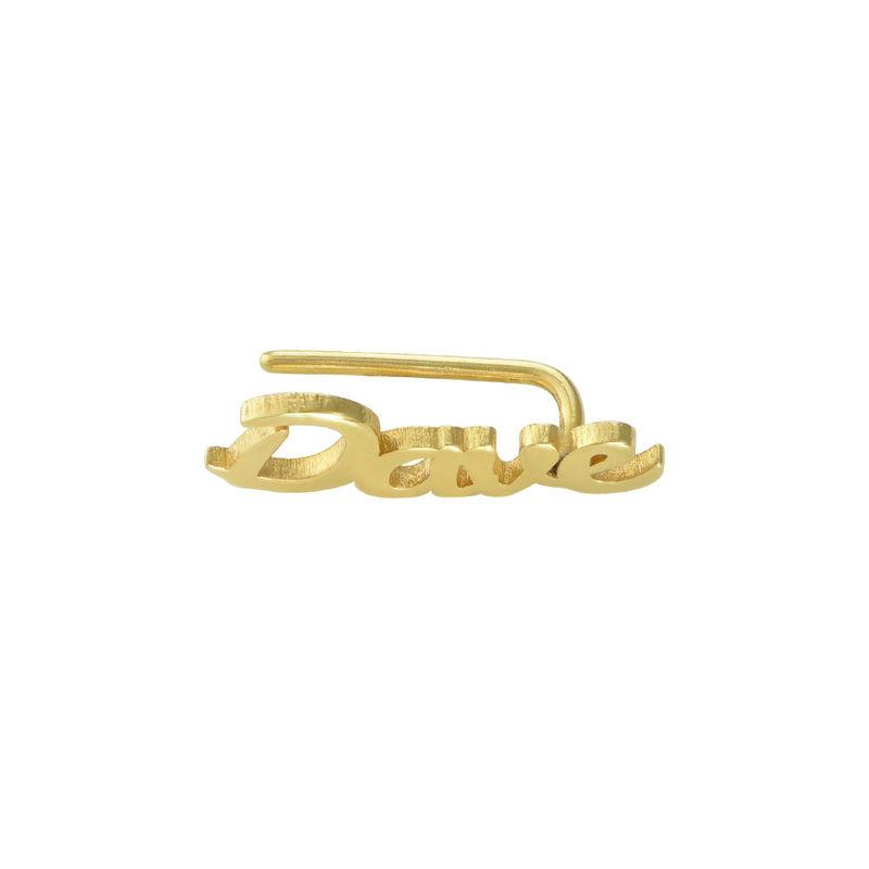 Pendientes Trepadores Personalizados chapados en oro de 18K - 1