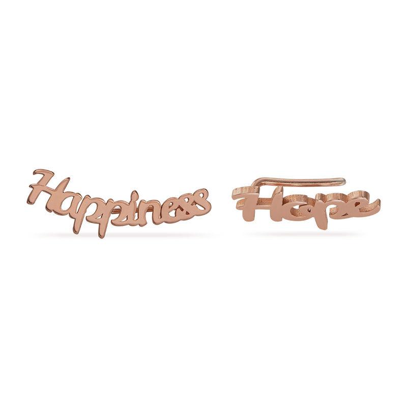Pendientes Trepadores Personalizados chapados en oro rosa de 18K