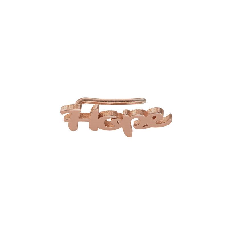 Pendientes Trepadores Personalizados chapados en oro rosa de 18K - 1