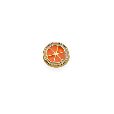 Encanto Naranja para Medallón Flotante
