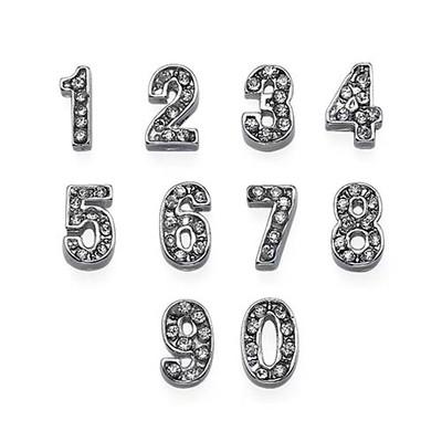 Encantos Números con Diamantes de Fantasía para Medallón Flotante