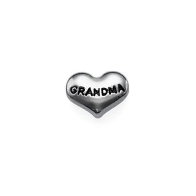 Encanto Corazón Abuela para Medallón Flotante