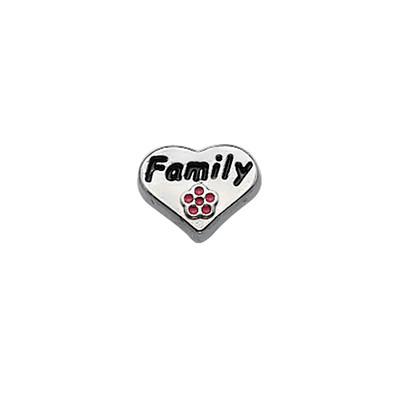 Encanto Corazón Familia para Medallón Flotante