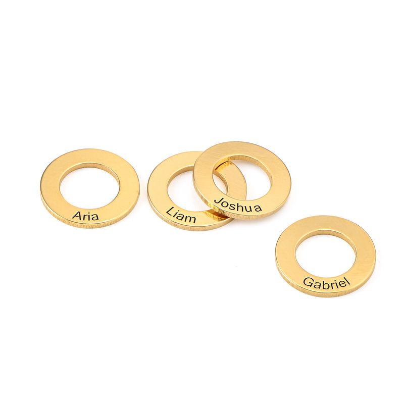 Colgante circular para brazalete, chapado en oro 18k