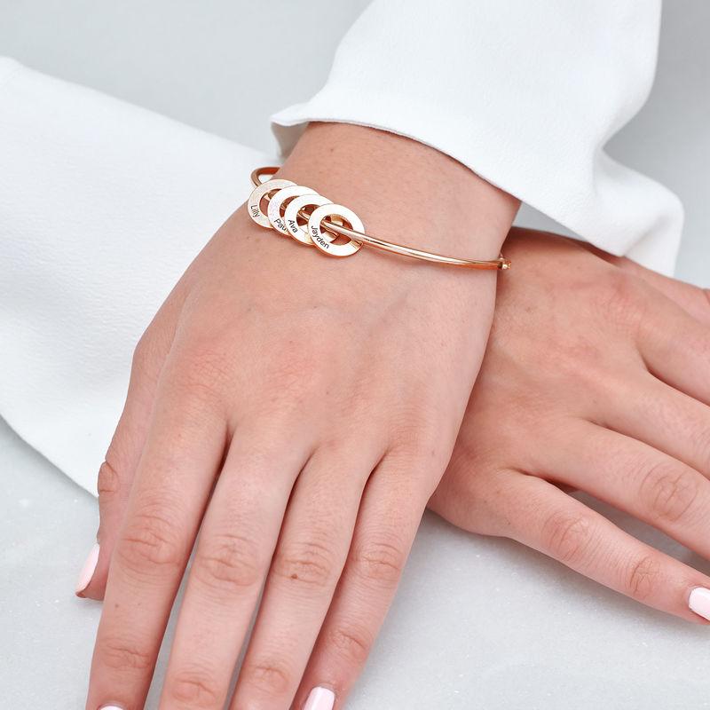 Colgante circular para brazalete, chapado en oro rosa 18k - 2