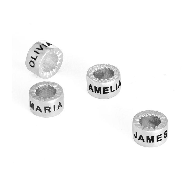 Colgantes grabados personalizados para collar Linda - plata