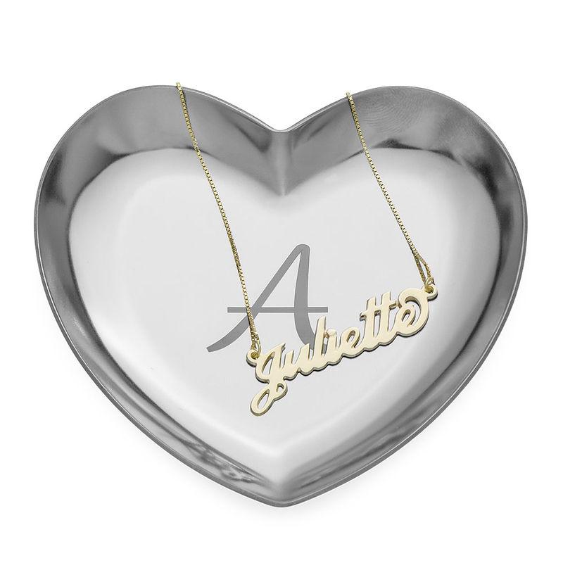 Bandeja para Joyas Corazón Personalizada en Color Plata - 2