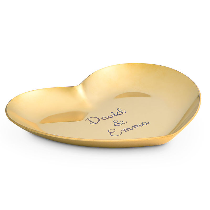 Bandeja para Joyas Corazón Personalizada en Color Oro - 1