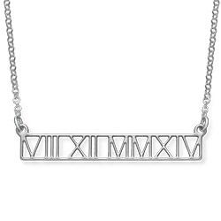 Collar de barra con Números Romanos - diseño calado product photo