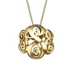 Collar Monograma 3D en Chapa de Oro foto de producto