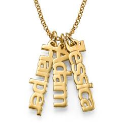 Collar Nombre Vertical Chapado en Oro 18K product photo