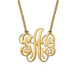 Elegante Collar Monograma Chapado en Oro 18K foto de producto