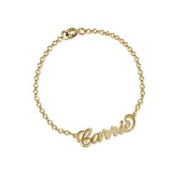Pulsera estilo Carrie con Nombre chapada en oro 18k foto de producto