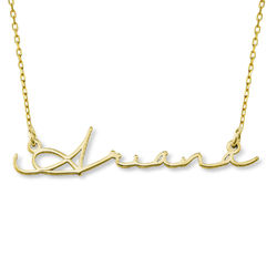 Collar con Nombre en Firma en Oro 10K foto de producto