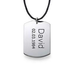 Collar con Placa de Identidad en Plata product photo