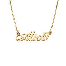 "Collar pequeño con nombre estilo ""Carrie"" en oro Vermeil product photo"