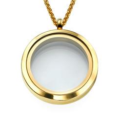 Medallón Redondo Chapado en Oro foto de producto