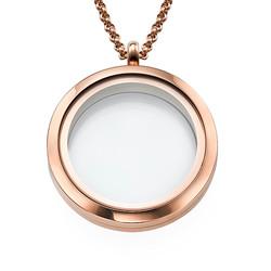 Medallón Redondo Chapado en Oro Rosa foto de producto
