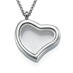 Medallón Corazón Plateado foto de producto