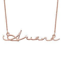 Collar con Nombre en Firma - Chapado en oro rosa foto de producto