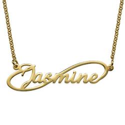 Collar con Nombre Estilo Infinito en chapa de Oro product photo