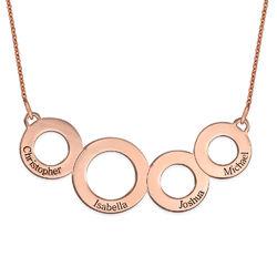 Collar Círculos Grabados Chapado en Oro Rosa product photo