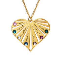 Collar de la Familia con Piedras de Nacimiento en Oro Vermeil product photo