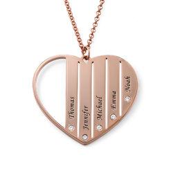 Collar Mamá de chapado en oro rosa con diamantes foto de producto