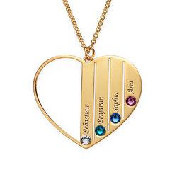 Collar para mamá con piedras de nacimiento en oro Vermeil product photo