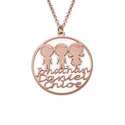Collar Círculo para Mamá Chapado en Oro Rosa foto de producto