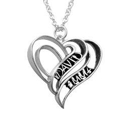 Collar Personalizado de Corazón 3D en Plata de Ley foto de producto