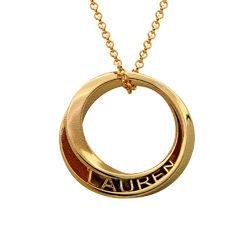 Collar Círculo 3D Personalizado chapado en oro foto de producto
