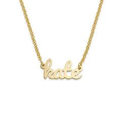 Collar con Nombre Caligrafía chapado en oro de 18K foto de producto